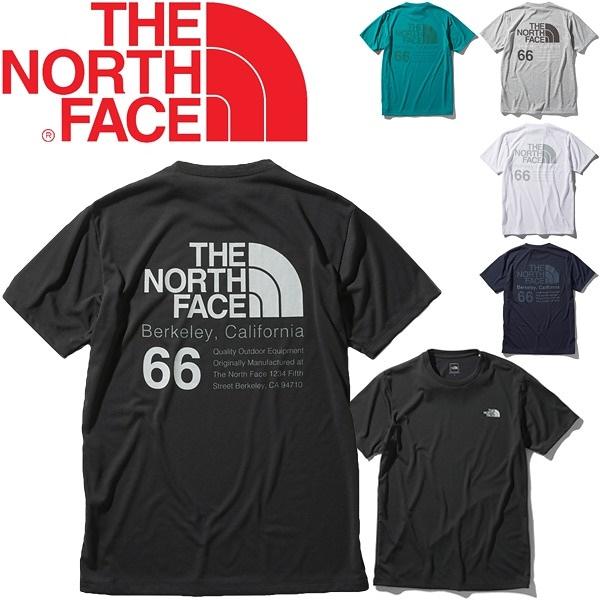 Tシャツ 半袖 メンズ ノースフェイス THE NORTH FACE 66カリフォルニアティー/スポーツウェア ジム バックプリント 半袖シャツ UVケア/NT32085