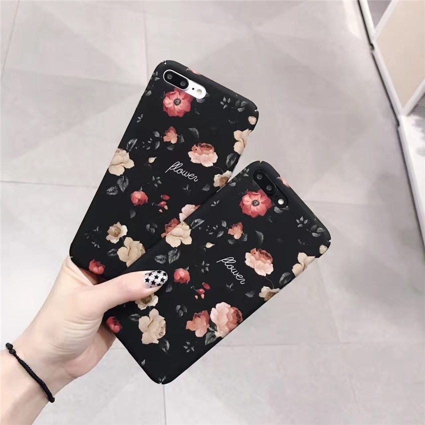 iPhone7/7Plus iPhone6 Plus/6sPlus iPhone6/6s用花柄スマホケース/背面保護カバー/使いやすい/軽量/耐衝撃【G100】