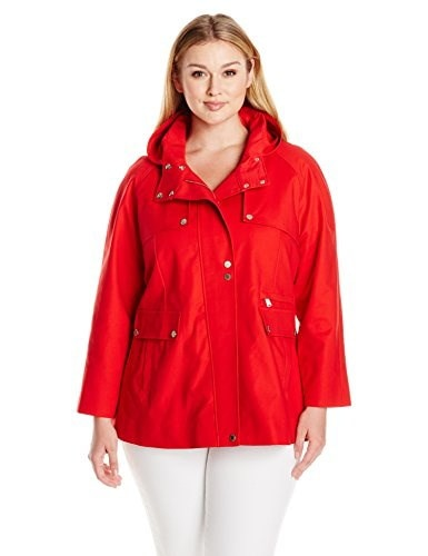 Pendleton Heritage Womens Plus-Size Lake Shore Trench Coat Plus, Red, 16W