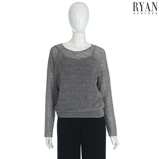 リアンニューヨークラグラン袖ベーシックニットプルオーバーRJHKPO8A0 ニット/セーター/韓国ファッション