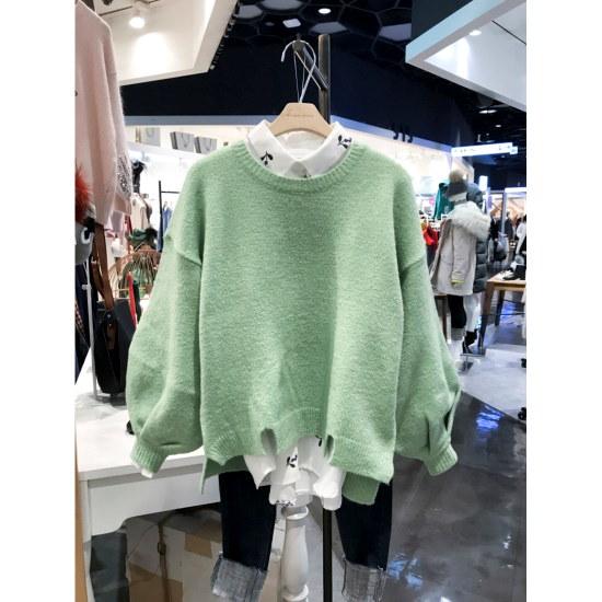 スタジオホワイトプリンパフ小売ニートMD228Q509 / ニット/セーター/ニット/韓国ファッション