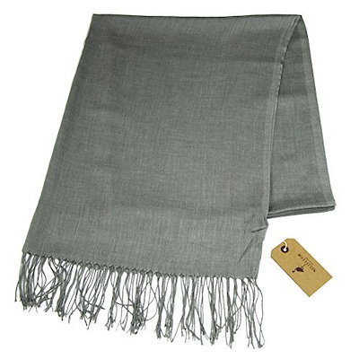 Melifluos Solid Color Soft Poly Viscose Womens Light Weight Scarf Pashmina Shawl