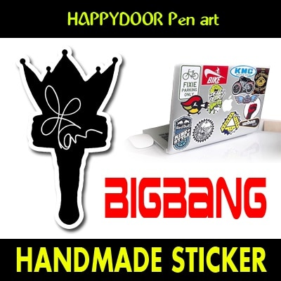 BIGBANG-GDキャラクターイラスト WATERPROOF STICKER キャリアステッカー PEN ART 携帯キャリアステッカ-[happy door original]