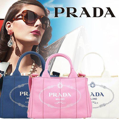 数量限定! PRADA 憧れのプラダがこの価格!プラダ バッグ PRADA 2Wayハンドバッグ 正規品 カナパ CANAPA