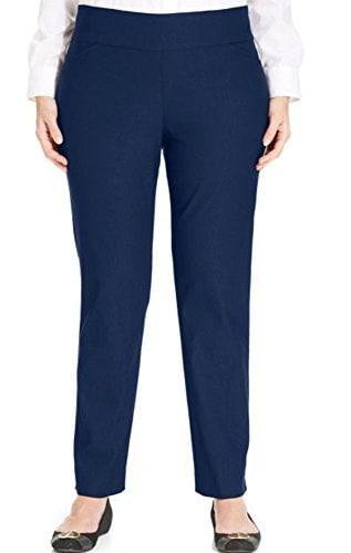 Charter Club Plus Size Tummy-Control Slim-Leg Pull-On Pants (22w, Intrepid Blue )