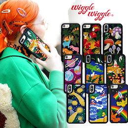 [Wiggle Wiggle] Embroidery Case ウィグルウィグル 刺繡ケース iphoneケース iphone7/8/X/XS/XR/11対応 スマホケース 送料無料