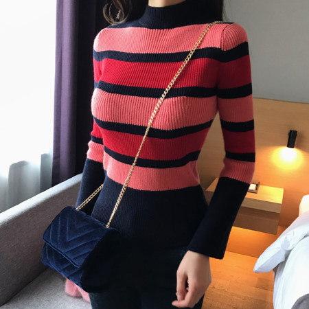 ヒヒストライプニットkorean fashion style