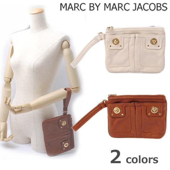 マークバイマークジェイコブス クラッチバッグ/ポーチ MARC BY MARC JACOBS ターンロック ストラップ付  M381000