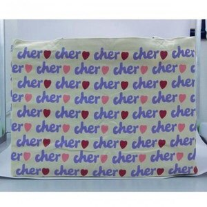 Cher(シェル) トートバック エコバッグ 【オフホワイト/ライトパープル】Lサイズ