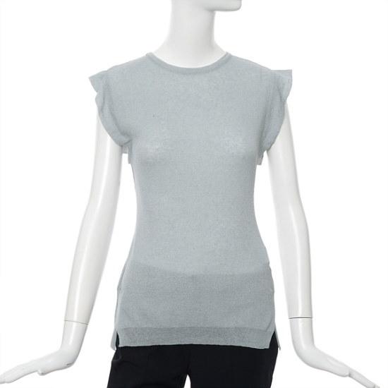 ラインフリルナシニートNKPOGE02 ニット/セーター/韓国ファッション