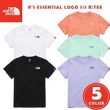 THE NORTH FACE NT7UM02S K`S ESSENTIAL LOGO S/S R/TEEキッズエッセンシャルロゴ半袖Tシャツの基本男性女性韓国のファッション韓国子供服、大人が可