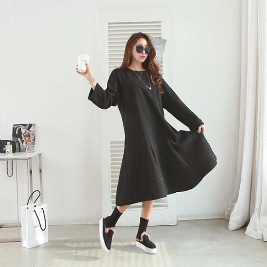 ピピンエディタフレア起毛ワンピース35032 綿ワンピース/ 韓国ファッション