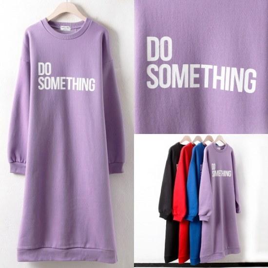 ウィスィモールIWソムティン起毛ワンピースMO18014col66110size 綿ワンピース/ 韓国ファッション