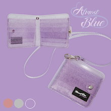 【ALMOSTBLUE】 TWINKLE JELLY WALLETクリア財布 3色♥ snsで人氣♬コンパクトウォレット。シンプルなデザイン♪