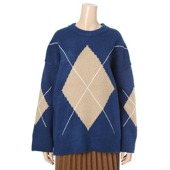 マロンジェイキンダイアNTJC11NT024B パターンニット/ニット/セーター/韓国ファッション