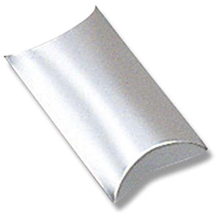 ヘイコー 箱 ギフトボックス ピロー型 AX-10 ギン 7.5x11.5x3cm 10枚 006899926(銀AX-10(内寸 横7.5×縦11.5×高3)