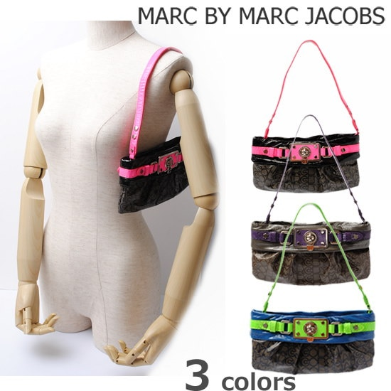 マークバイマークジェイコブス クラッチバッグ/アクセサリーポーチ MARC BY MARC JACOBS ネオンカラー/ロゴ M382095