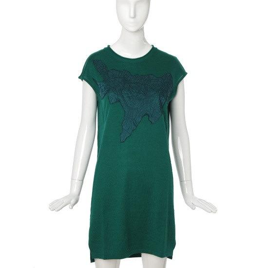 バレンシア女性衣類自首パッチニット・ワンピースV47MK60 ロングニット/ルーズフィット/セーター/韓国ファッション