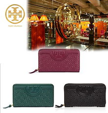 🔥Qoo10クーポン使えます♪🔥TORY BURCH ☆ FLEMING ZIP CONTINENTAL WALLET