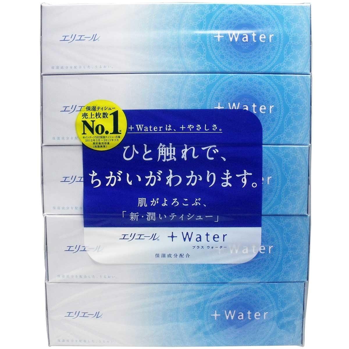 エリエール+Water 180組×5箱入り