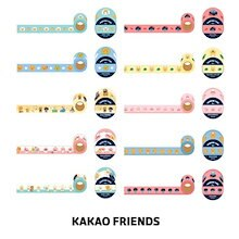 【Kakao friends】リトルフレンズマスキングテープ4個セット/Little friends masking tape 4p set/10種・15㎜X7m