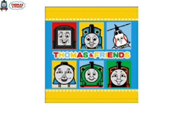 【機関車トーマス】【THOMAS】ウォッシュタオル【イエロー】【タオル】【ハンドタオル】【キッズ】【アニメ】【グッズ】【汽車】【機関車】【トーマス】【たおる】【かわいい】