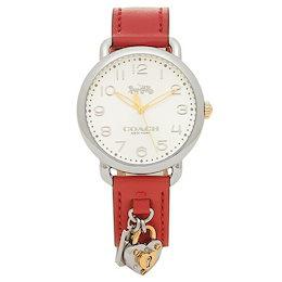 ab5730afb57d COUPON; コーチ 時計 レディース COACH 14502970 DELANCEY デランシー レディース腕時計ウォッチ レッド/シルバー
