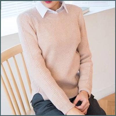[クッキーセブン]R8543の前に広がることソフトラウンドネックニート(5color) /ニット/セーター/ニット/韓国ファッション