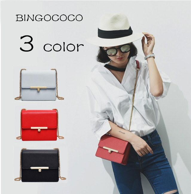 【送料無料】韓國ファッション/斜め掛けバッグ/チェーン付けショルダーバッグ/通勤/外出/女子用鞄