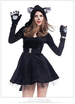 2373926db04734 大人用 cosplay ハロウィン ハロウィン衣装 仮装 可爱い ハロウィン変装ハロウィン コスプレ ネコ セクシー アニマル