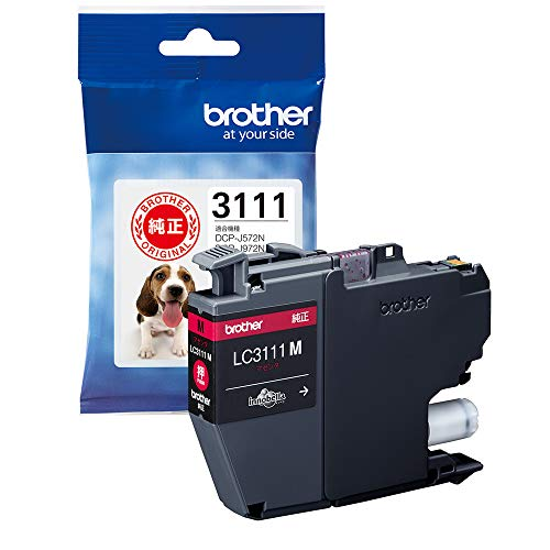 【brother純正】インクカートリッジマゼンタ LC3111M 対応型番:DCP-J982N、DCP-J978N、DCP-J582N、DCP-J577N、MFC-J738DN 他マゼンタ