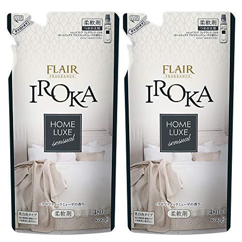 【まとめ買い】フレアフレグランス 柔軟剤 IROKA(イロカ) HomeLuxe(ホームリュクス) 詰め替え 480ml2個480ml×2個