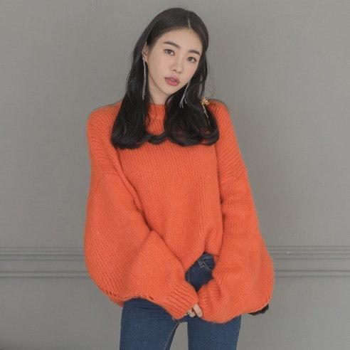【WhiteFox]しなやかオ・バフェットラウンドネックニットkorea fashion style free shipping
