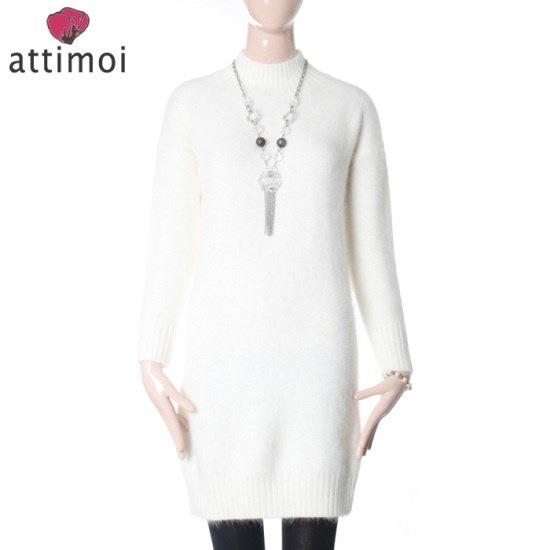 アティムアアンゴラ反目シボリロング・ニットATA740003 ニット/セーター/ニット/韓国ファッション