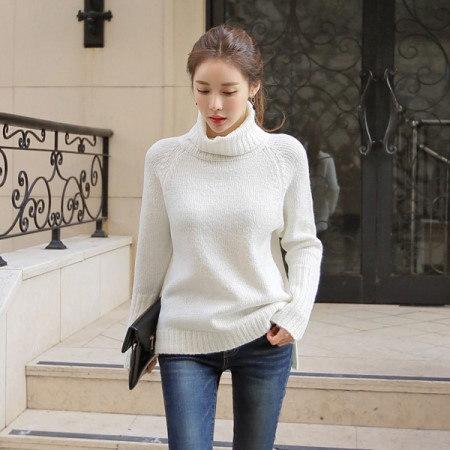 [Tom n Rabbit]リーズタートルニットナグランニットルーズフィットポーラニットデイリーkorean fashion style