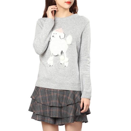 【オリーブデオリーブ]キュートなプードルポイントプルオーバー(OK7WP820) ニット/セーター/パターンニット/韓国ファッション