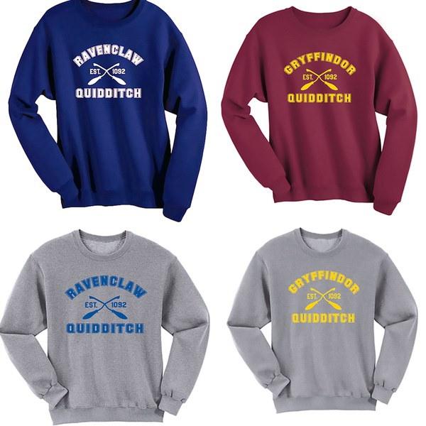女性のGryffindor Ravenclaw Quidditchカジュアルパーカー新しいファッションデザインスポーツのセーターシャツプルオーバー