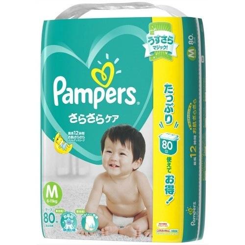 パンパース さらさらケアテープ ウルトラジャンボ Mサイズ 80枚入 製品画像
