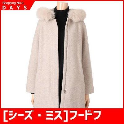 [シーズ・ミス]フードフォックスAラインコート(SWWHCH41030) /ポコート/コート/韓国ファッション