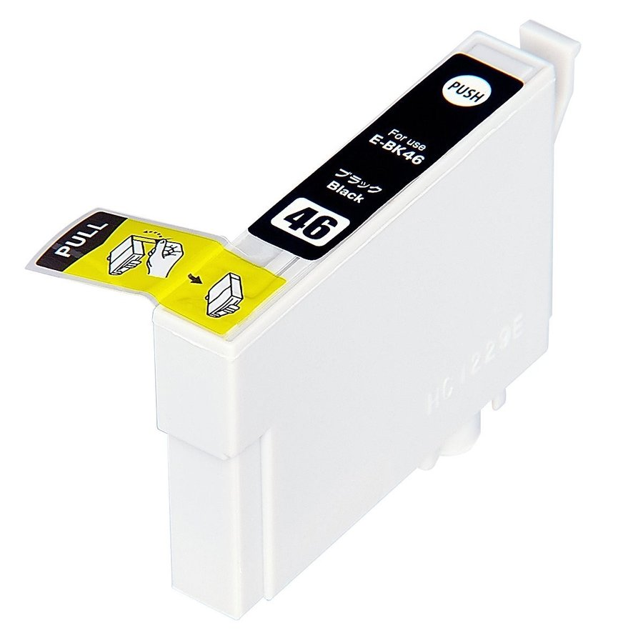 ICBK46 単品 ブラック エプソンプリンター用互換インク EP社 ICチップ付 残量表示機能付IC46