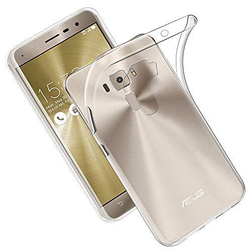 全国一律無料 【Qosea】 Asus Zenfone 3 ZE520KLケース カバー TPU シリコン ケース 落下防止 防指紋 超薄型、軽量TPU素材 ケース ソフト クリア (Asus