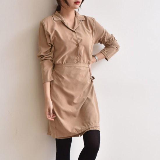 オーサムビクトリアラップシャツ、ワンピース233939 綿ワンピース/ 韓国ファッション