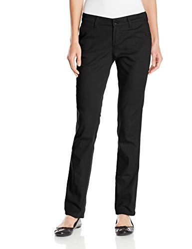 Dickies Juniors Sized Stretch Straight Leg Pant, Black, 3
