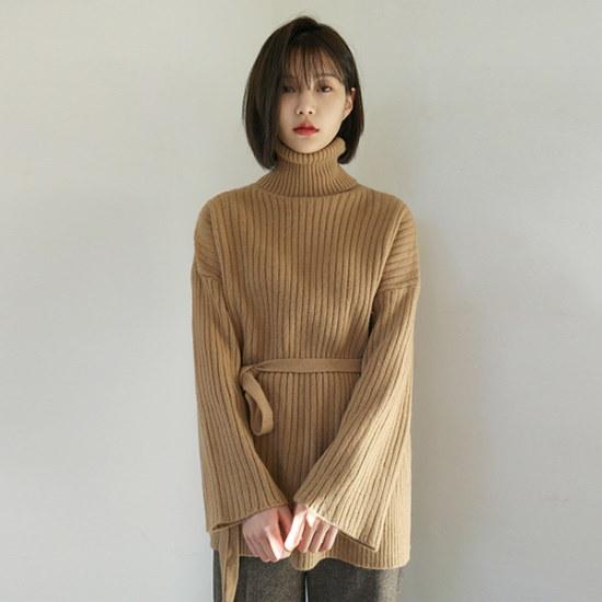 デイリー・マンデーGolgi natural pola knitニート ニット/セーター/タートルネック/ポーラーニット/韓国ファッション