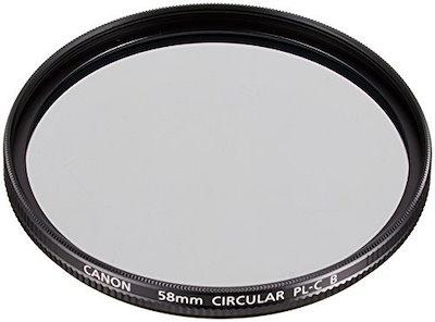 Canonカメラ用円偏光フィルターPL-CB58mm