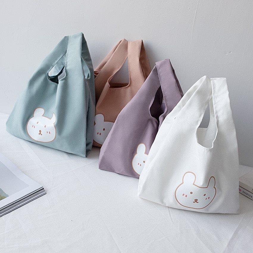 2SIZEトート/エコバッグ/トートバッグ弁当箱/便利カバン/加厚キャンバスバッグ/可愛いカバン/軽量バッグ/韓国ファッションカバン/鞄/お買い物バッグ 折り畳み ピクニック