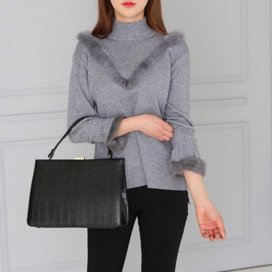 オーサムキャンデーV・ファー反目のポーラー・ニット233689 ニット/セーター/ニット/韓国ファッション