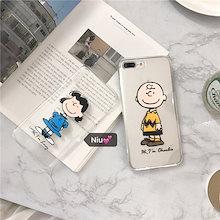 ブラウン 派バーディー 透明なスヌーピー柔らかいTPUケース iphone7ケース iphone8 ケース iphone6 ケース iphoneX ケース iphone8 plusケース