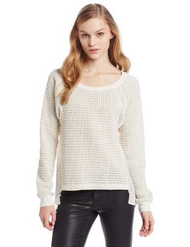 Sanctuary Clothing Womens Mix and Match Swet, Ivory, Small