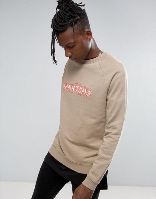 ASOS Sweatshirt With Chest Print